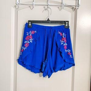 Target Floral Ruffle Shorts